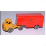 Benbros No.43 Bedford Articulated Van - bright red trailer